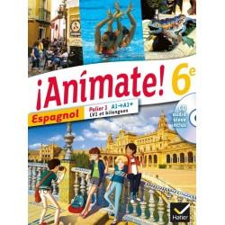 Animate Espagnol 6e - Manuel + CD audio - 2013 - Hatier