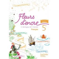 Fleurs d'encre français 5ème - Cycle 4 - Manuel - 2016 - Hachette