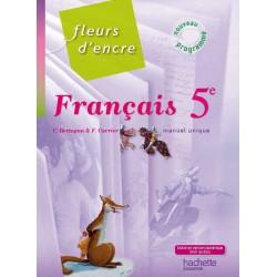 Fleurs d'Encre 5e - Livre élève - Format compact - édition 2010