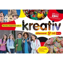 Kreativ allemand 5e - Cycle 4 - LV2 - Livre élève - éd. 2016