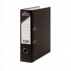 Classeur à levier Sicla - Papier nuageux noir - Dos 8 cm - 32*28