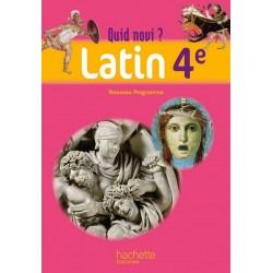 Quid Novi ? 4ème - Latin - Manuel - 2011 - Hachette