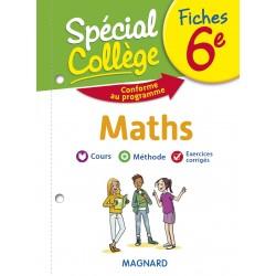 Spécial Collège - Fiches - Maths - 6e - 2019 - Magnard