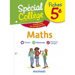 Spécial Collège - Fiches - Maths - 5e - 2019 - Magnard