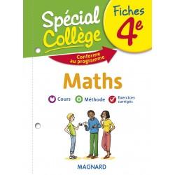Spécial Collège - Fiches - Maths - 4e - 2019 - Magnard