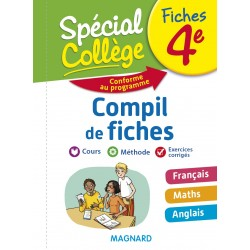 Spécial Collège - Compil de Fiches - Français Maths Anglais - 4e - 2018 - Magnard
