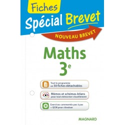 Spécial Brevet - Fiches - Maths - 3e - 2016 - Magnard