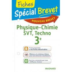 Spécial Brevet - Fiches - Physique Chimie SVT Techno - 3e - 2016 - Magnard
