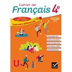 Cahier de Français 4ème - Cahier de l'élève - 2016 - Hatier