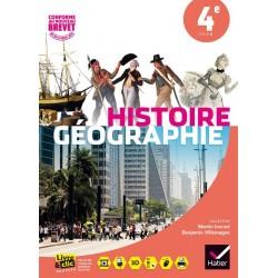 Histoire-Géographie 4ème - Manuel - Sous la direction d'Ivernel - 2016 - Hatier