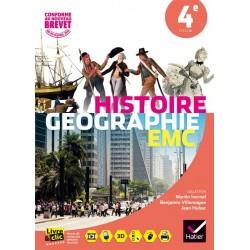 Histoire-Géographie + EMC 4ème - Manuel - Sous la direction d'Ivernel - Hatier