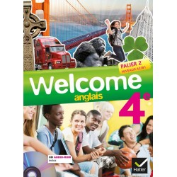 Welcome Anglais 4ème - Manuel + CD audio-rom - 2013 - Hatier