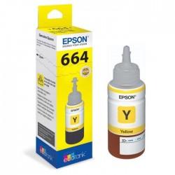 Epson 664 Jaune originale - Bouteille d'encre pour ITS - T6644 - 70 ml