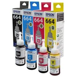 Pack Epson 664 N/C/M/J originales - Bouteille d'encre pour ITS