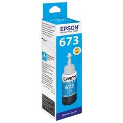 Epson 673 Cyan originale - Bouteille d'encre pour ITS - T6732 - 70 ml