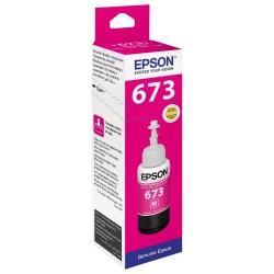 Epson 673 Magenta originale - Bouteille d'encre pour ITS - T6733 - 70 ml