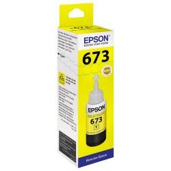 Epson 673 Jaune originale - Bouteille d'encre pour ITS - T6734 - 70 ml