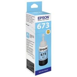 Epson 673 Cyan Clair originale - Bouteille d'encre pour ITS - T6735 - 70 ml