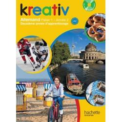 Kreativ allemand année 2 palier 1 - Livre de l'élève + CD audio - édition 2014