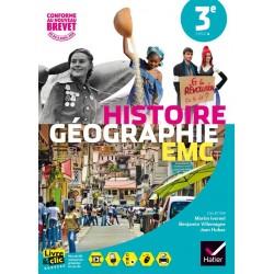 Histoire Geographie + EMC 3e - Manuel - 2016 - Sous la direction d'Ivernel - Hatier