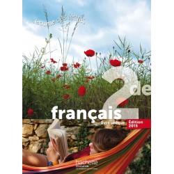 L'écume des Lettres Français 2de - Manuel - 2015 - Hachette