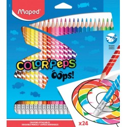 24 Crayons de Couleur Color Peps Maped