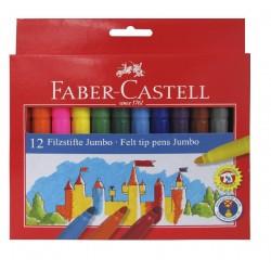 Boite de 12 feutres Jumbo Faber Castell