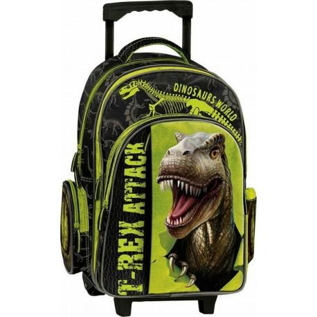 Cartable à roulettes Dinosaurs World 201251 - Graffiti