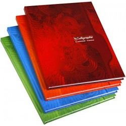 Cahier Brochure Calligraphe 288p rigide - 24*32 - 70g - Grands Carreaux