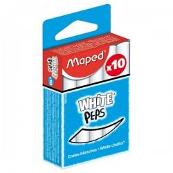Boite de 10 craies blanches Maped
