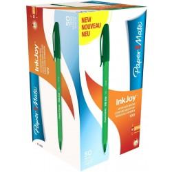 Boite de 50 Stylos Paper Mate Inkjoy 100 Vert