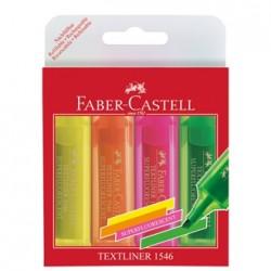 Pochette de 4 Fluos Faber-Castell