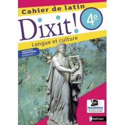 Dixit ! Cahier de latin 4e - 2017 - Nathan