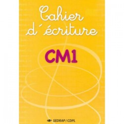 Cahier d'écriture CM1 - Sedrap