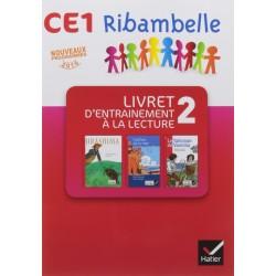 Ribambelle CE1 - Serie Rouge - Cahier d'activites 2 + Livret d'entrainement 2 - 2016 - Hatier