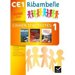 Ribambelle CE1 - Serie jaune - Cahier d'activites 1 + livret d'entrainement 1 - 2016 - Hatier