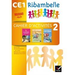 Ribambelle CE1 - Serie jaune - Cahier d'activites 2 + livret d'entrainement 2 - 2016 - Hatier