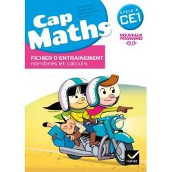 Cap Maths CE1 - Fichier d'entrainement + Cahier de géométrie + Dico Maths - 2016 - Hatier