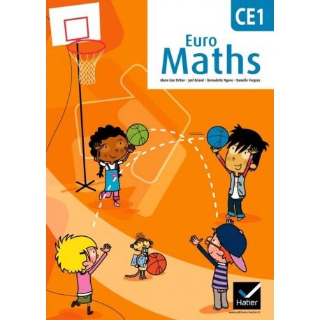 Euro Maths CE1 - Fichier de l'élève + Aide-mémoire - 2012 - Hatier