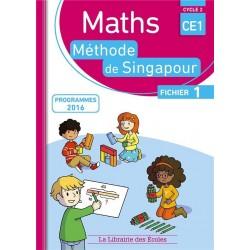 Mathématiques CE1 - Méthode de Singapour - Fichier 1 - 2017 - Librairie des Ecoles
