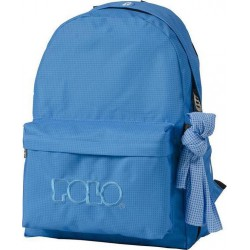 Sac à dos Polo Backpack - 1 Poche - Bleu à Carreaux
