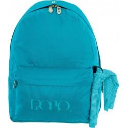 Sac à dos Polo Backpack - 1 Poche - Bleu Turquoise à Carreaux