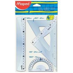 Kit de traçage 20 cm 4 Pièces Maped