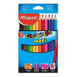 12 Crayons de Couleur MAXI Color Peps Maped