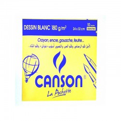 Pochette de 10 Canson Blanc 180g