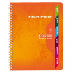 CAHIER TEXTES SPIRALE CALLIGRAPHE 148P SEYES A5 (17*22) 70GR