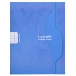 Cahier Calligraphe 48p./24 feuilles - 17x22 - 70g piquées - Grands Carreaux