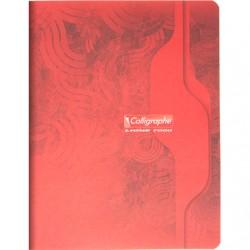 Cahier Calligraphe 96p. / 48 feuilles - 17x22 - 70g piquées - Grands Carreaux