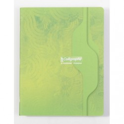 Cahier Calligraphe 96p. / 48 feuilles - 17x22 - 70g piquées - Petits Carreaux