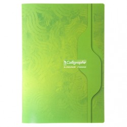 Cahier Calligraphe 96 pages - A4 - 70g - Piqué - Grands Carreaux